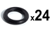 Grip Screw O-ring, 24 pieces - O-GS-24